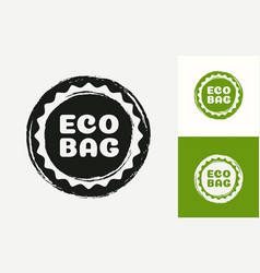 eco bag logotype isolated on background vector image