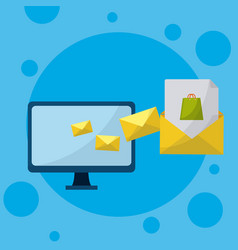 email and media marketing vector image