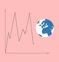 Flat icon on theme arabic business world economy vector