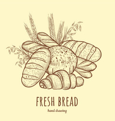 Fresh bread vector