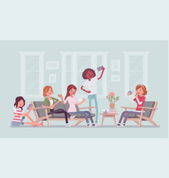 gathering of women for hen party or fun vector image