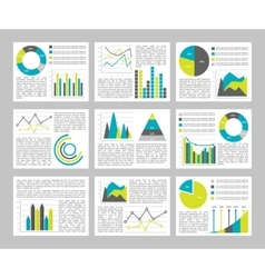Graphs Flat Concept vector image