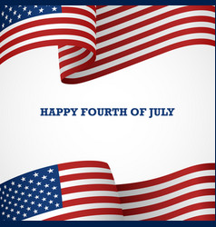 Happy fourth july vector