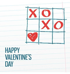 Happy valentines day xoxo greating card vector