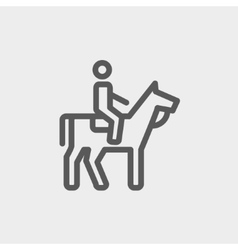 Horse riding thin line icon vector