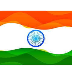indian flag made in simple wave style with vector image