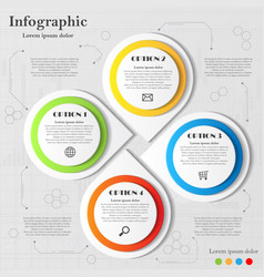 infographic with four elements vector image