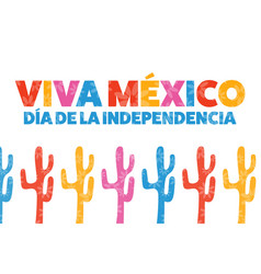 inscription mexico independence day and long live vector image