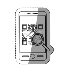 Isolated qr code and smartphone design vector