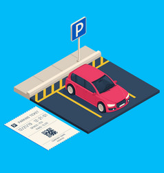 isometric transport parking entrance parking vector image