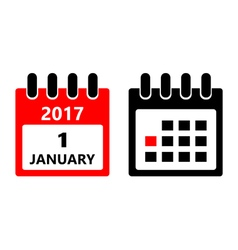 January 1 calendar icon vector image