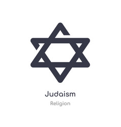 Judaism icon isolated judaism icon from religion vector