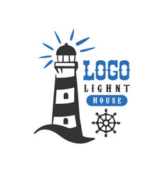 lighthouse logo original design retro badge for vector image