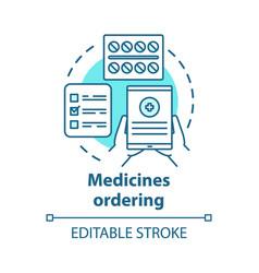 Medicines ordering app concept icon medical vector