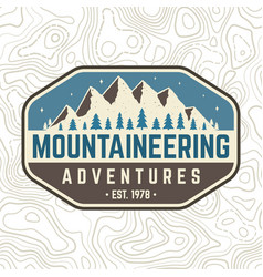 mountaineering adventure patch concept vector image