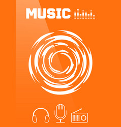 music banner or brochure cover design vector image