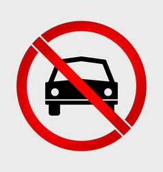 No Car or No Parking prohibition sign vector