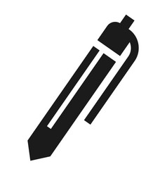 office pen icon simple style vector image