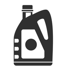 Oil plastic canister icon simple style vector