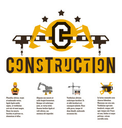 on theme a construction vector image