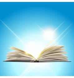 Open book isolated on white background vector
