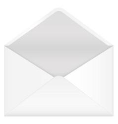 Open empty envelope vector