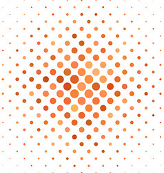 Orange dot pattern background design vector image