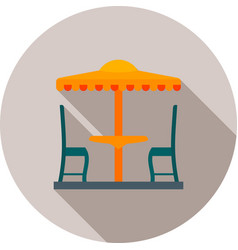 Outdoor cafe vector