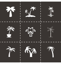 palm icon set vector image