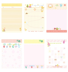 Paper Notebook pink and yellow style vector