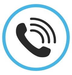 Phone Call Flat Rounded Icon vector