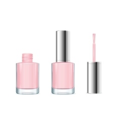 Pink nail polish vector