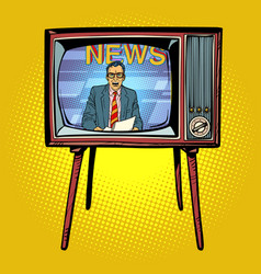 political news presenter on tv vector image