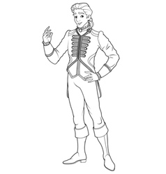 Prince Charming Coloring Page vector