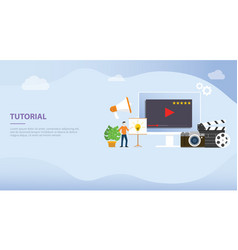 professional tutorial training development or vector image