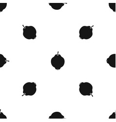 quince fruit pattern seamless black vector image