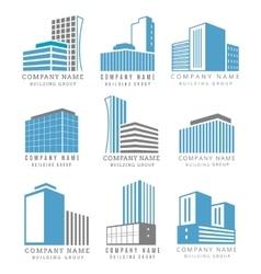 real estate construction business logo set vector image