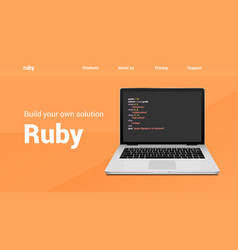 ruprogramming code technology banner ruby vector image
