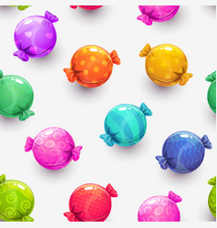 Seamless pattern with cartoon colorful round vector
