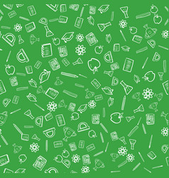 seamless pattern with school things vector image