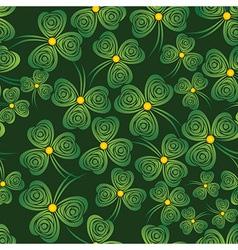 seamless shamrock vector image