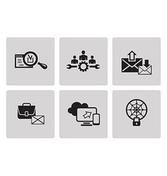 SEO internet marketing icons vector