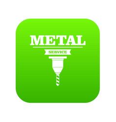 Service tool icon green vector