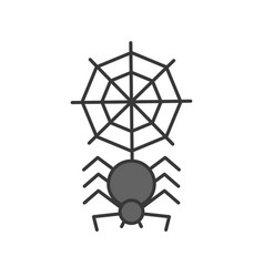 spider with spider web halloween related icon vector image