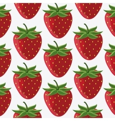 Strawberry fruit background vector