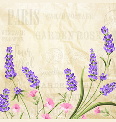 summer flowers garland vector image