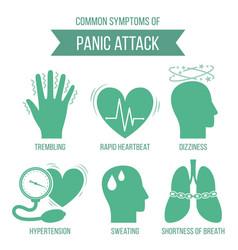 Symptoms of panic attack vector
