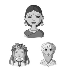 the human race monochrome icons in set collection vector image