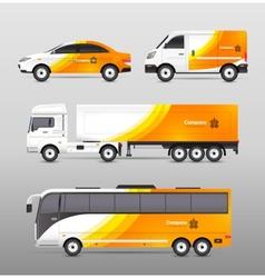 Transport Advertisement Design vector image