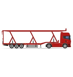 Truck semi trailer 17 vector